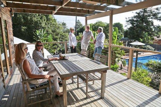 Birks Harbour - Boathouse & Birks River Retreats: Back Balcony of Riverview Retreat