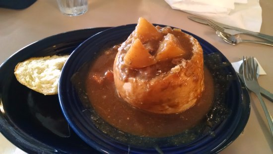 Timberline Cafe: Montana Beef Stew Bread Bowl ! WOW!! Great on a cold day!