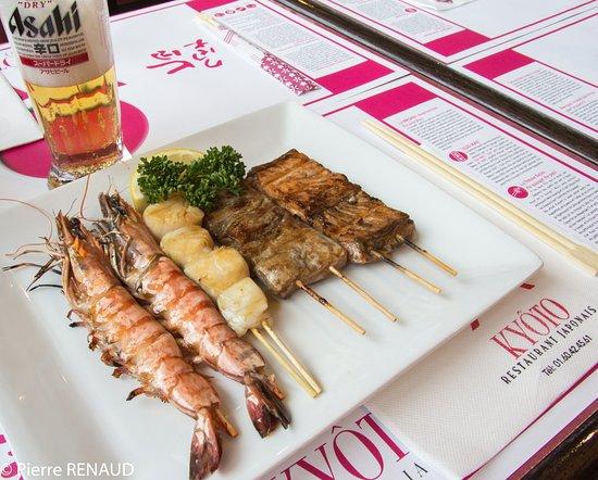 Kyoto: Crevettes grillées... délicieux