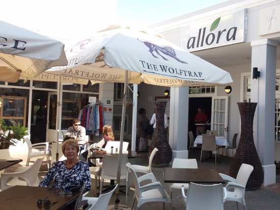 Allora: Outside seating in the plaza area