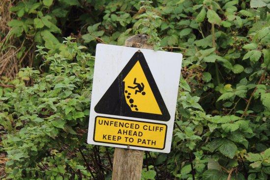 Coldstream, UK: Warning Sign Along Riverside Walk