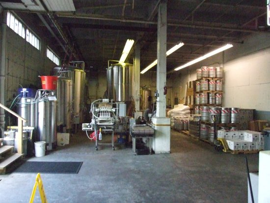 North Bergen, NJ: NJ Brewing Co brewing plant.