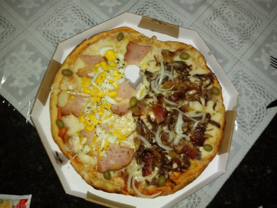Nova Veneza, GO: Pizza saborosa.