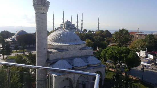 Ambassador Hotel: View from the rooftop restaurant (the Blue Mosque in background)