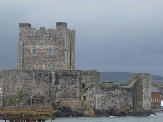 Castle view from Carrickfergus harbor