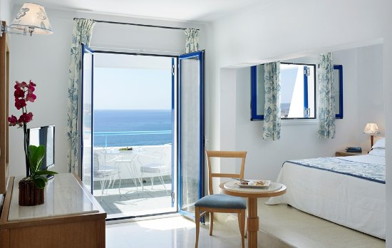 Mitsis Norida Beach Hotel : Sea view room