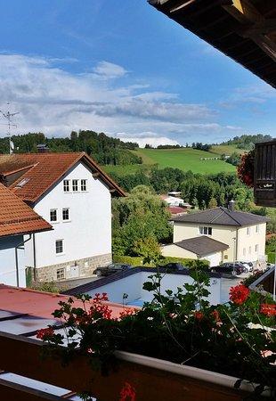 Rohrnbach, Tyskland: Blick vom Balkon