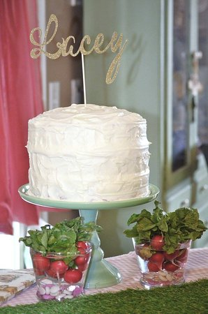 Hiram, GA: Fresh strawberry layered cake with cream cheese frosting