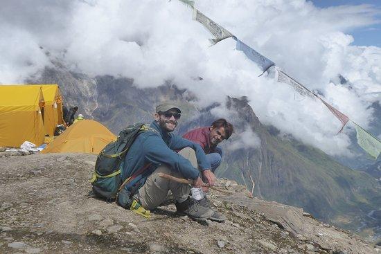 Долина Катманду, Непал: Manaslu base camp with our guide Ramesh