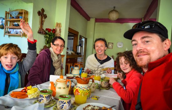 Macheros, Mexiko: Breakfast at Doña Rosa's, included in your stay at JM Butterfly B&B.