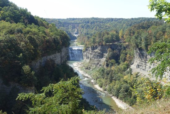 View of middle falls from inspiration point picture of - Letchworth state park swimming pool ...