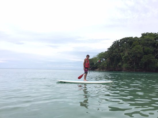 Adrian having fun in the beautiful waters of Punta Uva
