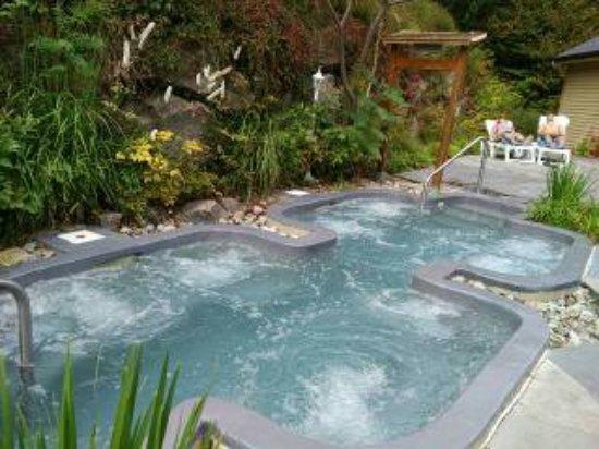 bain chaud photo de le nordique spa stoneham stoneham et tewkesbury tripadvisor. Black Bedroom Furniture Sets. Home Design Ideas