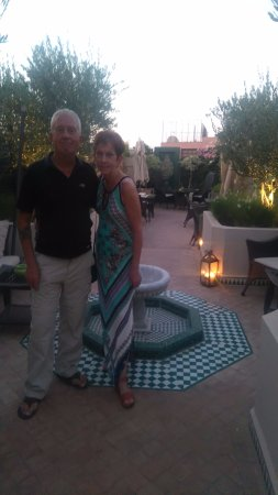 Riad Idra: Dining on the rooftop terrace