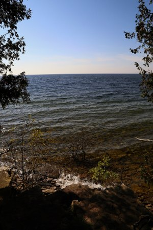 Garden, MI: Bay de Noc - outside of the harbor, a view to the south.