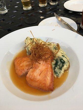 Canandaigua, NY: Wild Salmon Entree with Spinach Mashed Potato