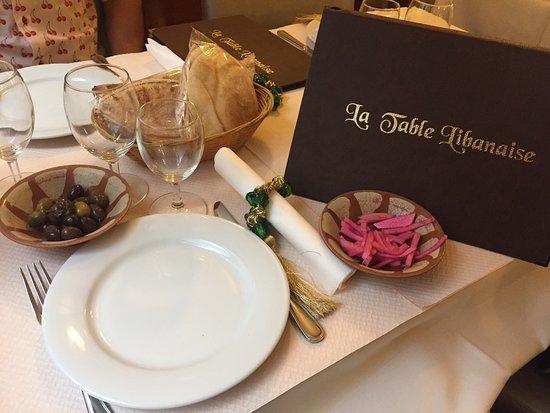 La table libanaise paris restaurantanmeldelser - La table libanaise la fourchette ...