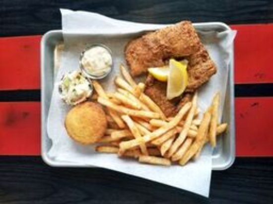 Friday fish fry picture of motor bar restaurant for Motor bar and restaurant