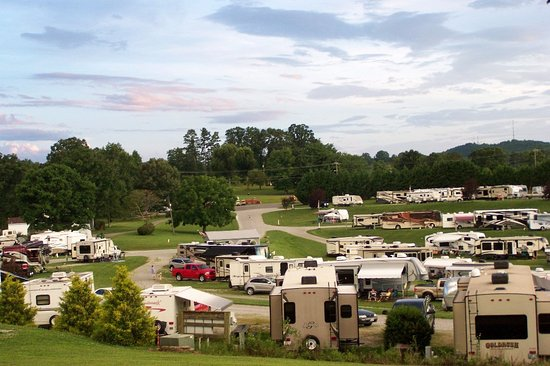 Mayberry Campground: looking down on the campground