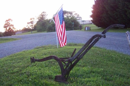 Mayberry Campground: American flag