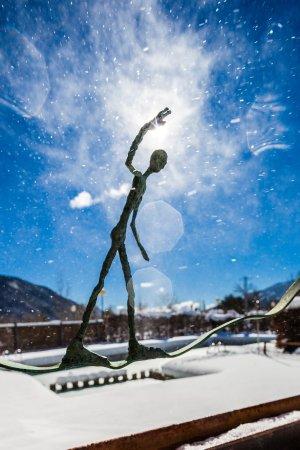 Biescas, Spanje: Escultura de la fuente