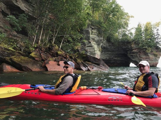 Cornucopia, WI: happy kayakers