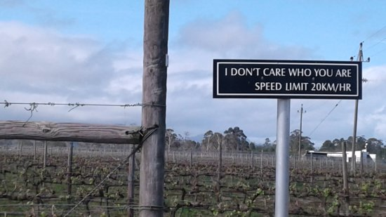 Bramon Wine Estate : Love this sign at the entrance to the wine estate!