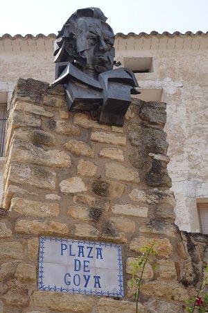 Fuendetodos, Spain: Plaza de Goya