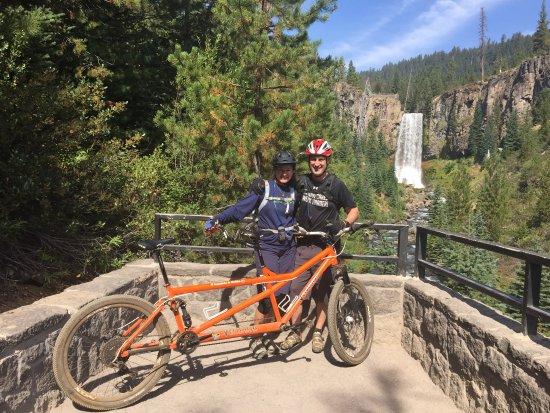 Cog Wild Mountain Bike Tours: Tumalo Falls on one of our long days of riding