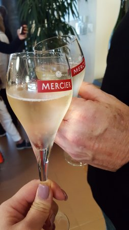 Epernay, France: Toasting during the wine tasting