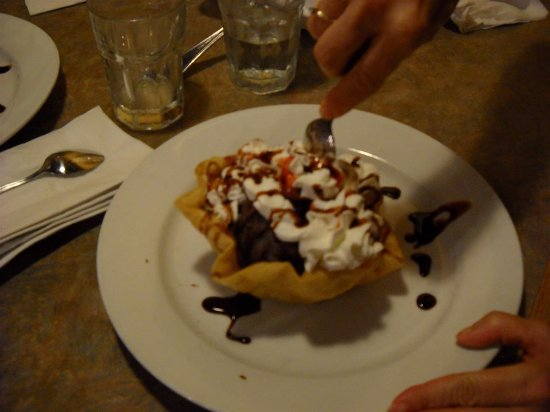 Hamden, CT: Deep fried ice cream,,, YUMMIE,,and this is big enough to feed two,,,,large appetites..
