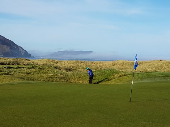 Ballyliffin Golf Club: The Old Links - early morning fog burning off