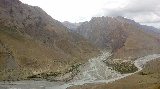 Dhankhar, Indien: The confluence of Pin and Spiti river