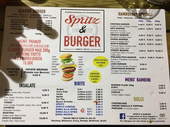 Spritz & Burger Hamburgeria : Fast friendly English speaking service.  AMAZING BURGER!!!!!!!!