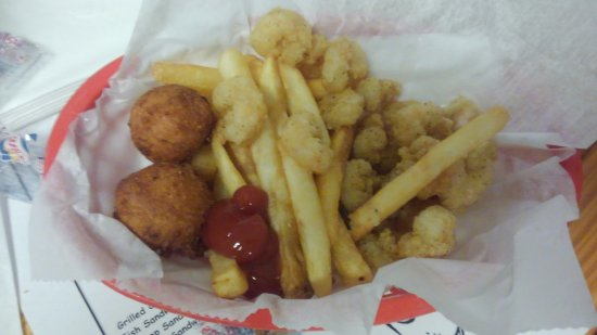 Milton, FL: Kids fried shrimp