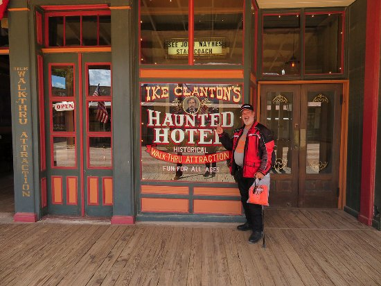Old Tombstone Western Theme Park Me In Front Of Ike Clanton S Haunted Hotel