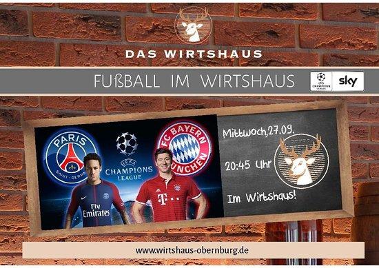 Obernburg, Alemanha: Fussball Highlights werden auf Grossleinwand übertragen! Tolle Atmosphäre!