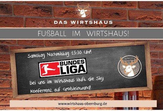 Obernburg, Germany: Fussball Highlights werden auf Grossleinwand übertragen! Tolle Atmosphäre!