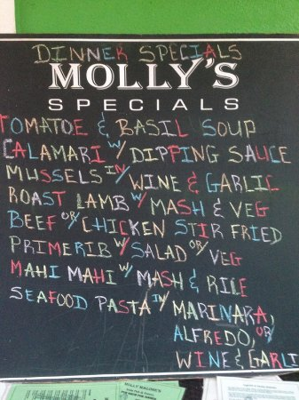 Molly Malone's-Irish Pub & Eatery : Somebody spent some time on that - alternating chalk color