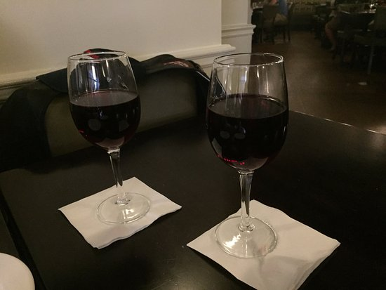North Andover, MA: our glasses of Chianti