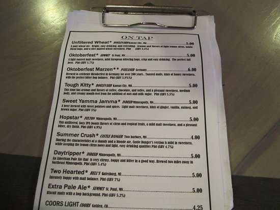 Ramsey, MN: Beer menu