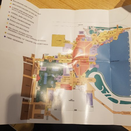 Hotel Map Picture of Bellagio Las Vegas Las Vegas TripAdvisor