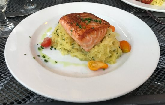Honey Glazed Salmon With Spaghetti Squash, Cherry Tomato, Citrus Vinaigrette - Stella, Boston