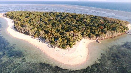 Green Island Resort: Foto green island. L'hotel si trova al centro.