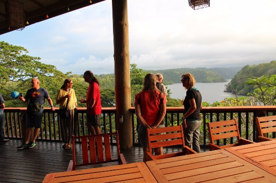 Tufi Resort dining deck