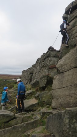 Hope Valley, UK: 1st time up the rock face