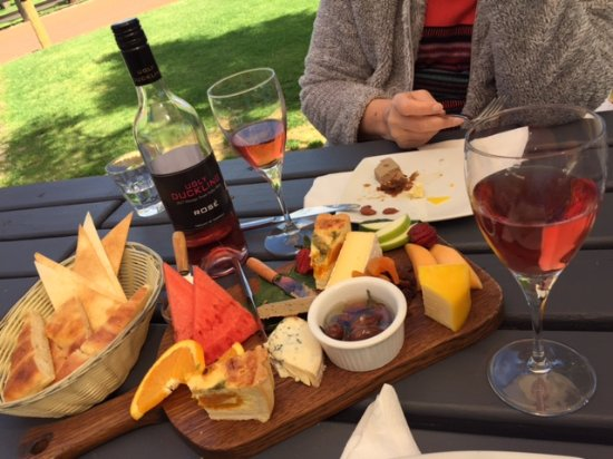 West Swan, Australia: Cheese Board with a delectable Rose