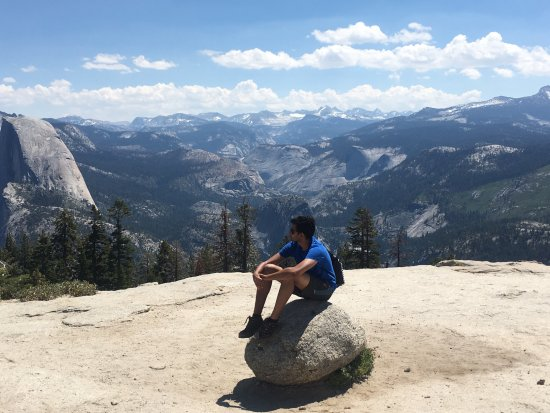 Taken on top of Sentinel dome which is the end point of the hiking trail. Fantastic 360 views.