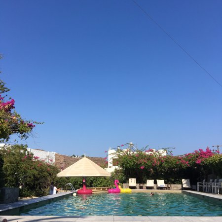 Skala Hotel: This gorgeous pool area is a beautiful place to relax after exploring the island.