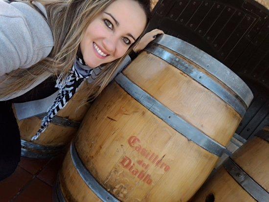 Пирке, Чили: Foto com o barril
